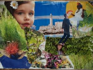 Collage réalisé sur Lam, un jour de rire